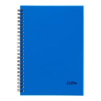 Icon Spiral Notebook A5 PP Cover Blue 200 pg 3pk