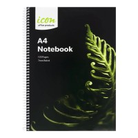 Icon Spiral Notebook A4 Soft cover 120 pg 3pk