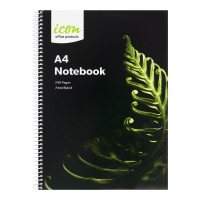 Icon Spiral Notebook A4 Soft cover 240 pg 3pk