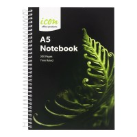 Icon Spiral Notebook A5 Soft cover 300 pg 3pk