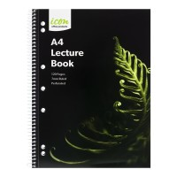 Icon Spiral Lecture Notebook A4 Soft cover 120 pg