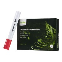 Icon Whiteboard Marker Bullet Tip Red - 12 Pack