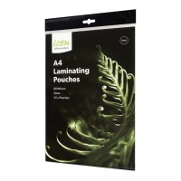 Icon Laminating Pouches A4 Gloss 80mic Pack 25