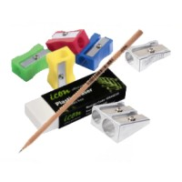 Pencils, erasers and sharpeners