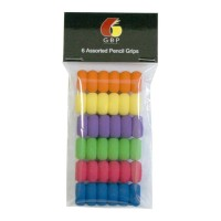 GBP Pencil Grip Assorted 6 Pack