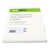 Icon A4 Adhesive Labels Sheet - 1 per page (100 pages)