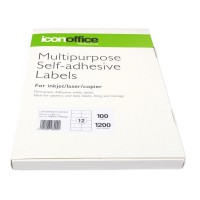 Icon A4 Adhesive Labels Sheet 105 x 49.5 - 12 per page (100 pages)