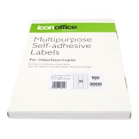 Icon A4 Adhesive Labels Sheet 70 x 29.7 - 30 per page (100 pages)
