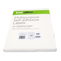 Icon A4 Adhesive Labels Sheet 70 x 25.4 - 33 per page (100 pages)