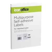 Icon A4 Adhesive Labels Sheet 38.1 x 21.2 ~ 65 per page (100 pages)