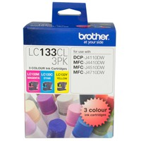 Genuine Brother LC133CL3PK Colour Ink Cartridge 3 Pack