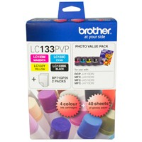 Genuine Brother LC133PVP Ink Cartridge Photo Value Pack