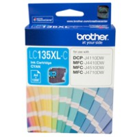 Genuine Brother LC135XLC Super High Yield Ink Cartridge - Cyan