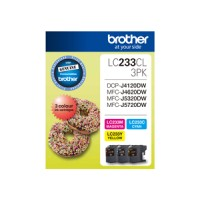 Genuine Brother LC233CL3PK 3 Pack - Colour