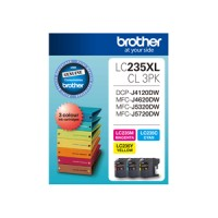 Genuine Brother LC235XLCL3PK Hi-Yield 3 Pack - Colour