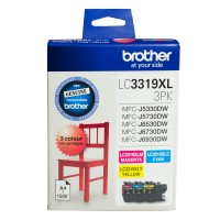Genuine Brother LC3319XL3PK High Yield Ink Cartridge - Colour 3 Pk