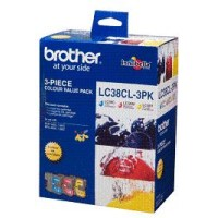 Genuine Brother LC38 Ink Cartridge 3 Pack - Colour