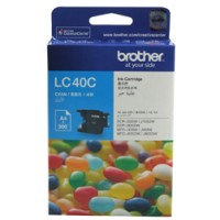 Genuine Brother LC40C Ink Cartridge - Cyan 300 Pages