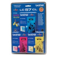 Genuine Brother LC57 Ink Cartridge 3 Pack - Colour