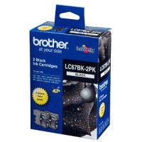 Genuine Brother LC67BK2PK Ink Cartridge Twin Pack - Black