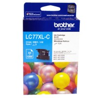 Genuine Brother LC77XLC Ink Cartridge - Cyan 1200 Pages