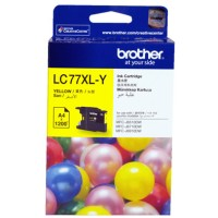 Genuine Brother LC77XLY Yellow Ink Cartridge 1200 Pages