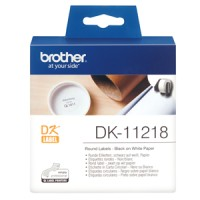 Genuine Brother DK11218 24mm x 24mm Round Labels