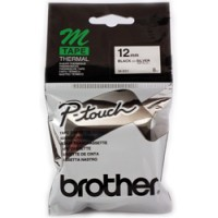 Genuine Brother M931 12mm Black on Silver Label Tape