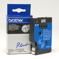 Genuine Brother TC101 Black/Clear 12mm P-Touch Label