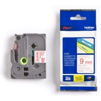 Genuine Brother TZe222 9mm Red on White Label Tape