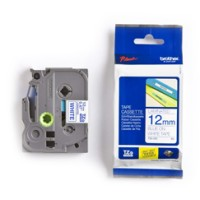 Genuine Brother TZE233 12mm Blue on White Label Tape