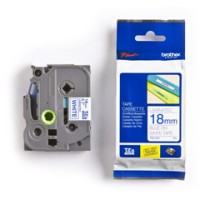 Genuine Brother TZE243 18mm Blue on White Label Tape