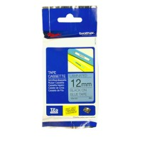 Genuine Brother TZE531 12mm Black on Blue Label Tape