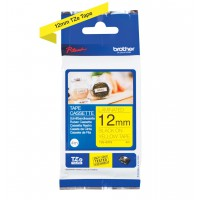 Genuine Brother TZES631 12mm Black on Yellow 4M Label Tape