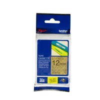 Genuine Brother TZeMPGG31 12mm Label Tape Black on Gold Geometric