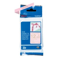 Genuine Brother TZeRE34 12mm Gold on Pink Label Tape