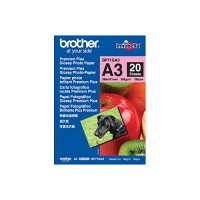 Genuine Brother A3 Premium Plus Glossy Photo Paper Pkt 20