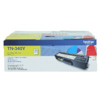 Genuine Brother TN340Y Yellow Toner Cartridge 1500 Pages