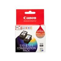Genuine Canon PG510 + CL511 Ink Cartridge Combo Pack
