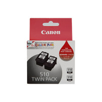 Genuine Canon PG510 Black Ink Twin pack
