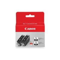 Genuine Canon PGI5BK Black Ink Cartridge Twin Pack