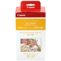 Genuine Canon RP108 4x6 Ink and Paper Set - Postcard Size