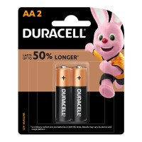 Duracell Coppertop Alkaline AA Battery - 2 Pack