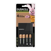 Duracell Hi-Speed Battery Charger + 2 AA and 2 AAA