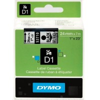 Genuine Dymo 24mm x 7m Black on Clear D1 Label Tape