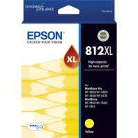 Genuine Epson 812XL High Yield Yellow Ink - C13T05E492