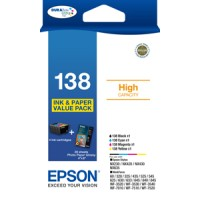 Genuine Epson 138 High Capacity Ink Cartridge Value Pack