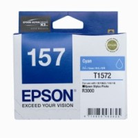 Genuine Epson 157 T1572 Cyan Ink Cartridge - R3000