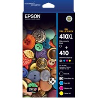Genuine Epson 410XL and 410 Colours Value Pack - C13T339792
