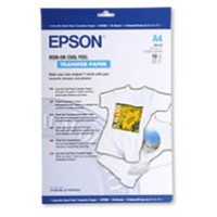 Genuine Epson A4 Iron-On Transfer Cool Peel Paper Pkt 10